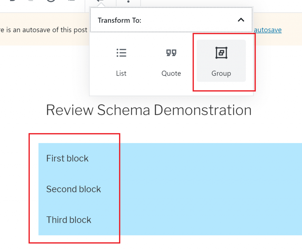 WordPress 5.3 Group Blocks
