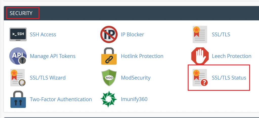 SSL TLS Status