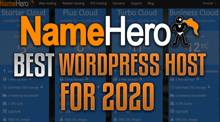 NameHero Best WordPress Host 2020