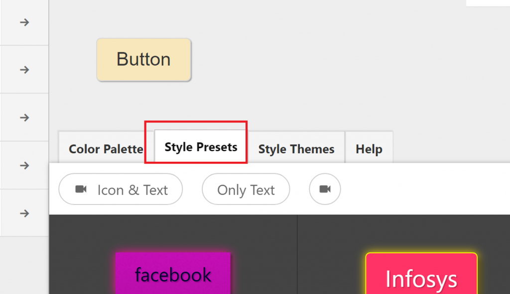 Style Presets for the CTA Buttons