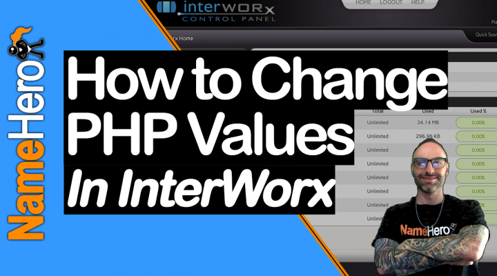 How To Change The Value Of A PHP Setting In InterWorx