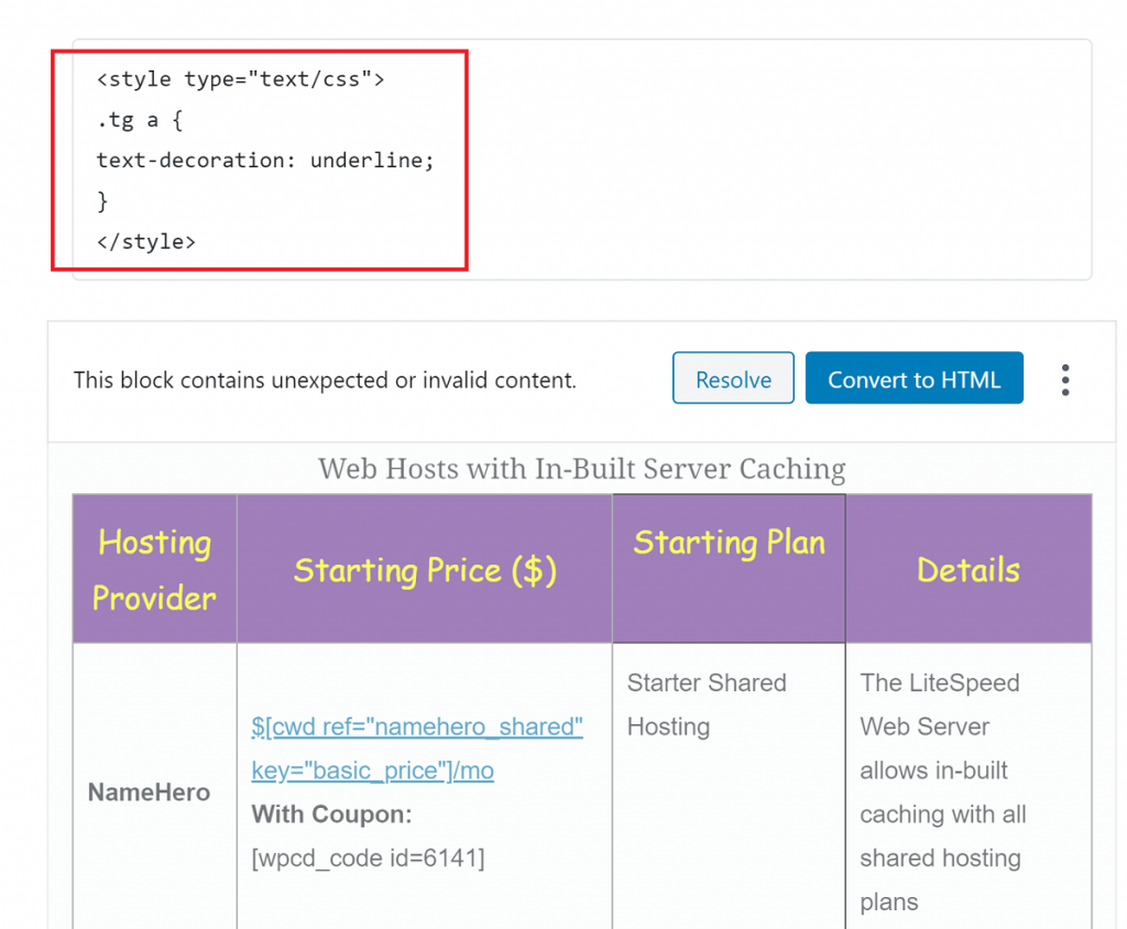 Inlining CSS in WordPress