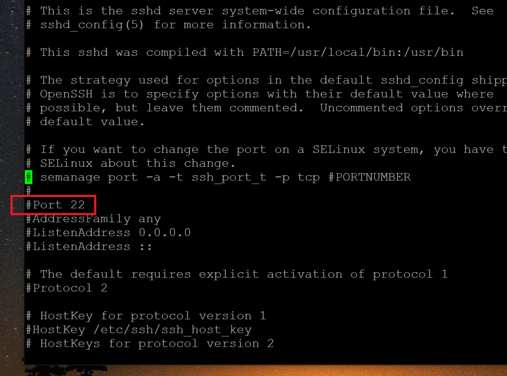 Open sshd_config and Find the Port Line