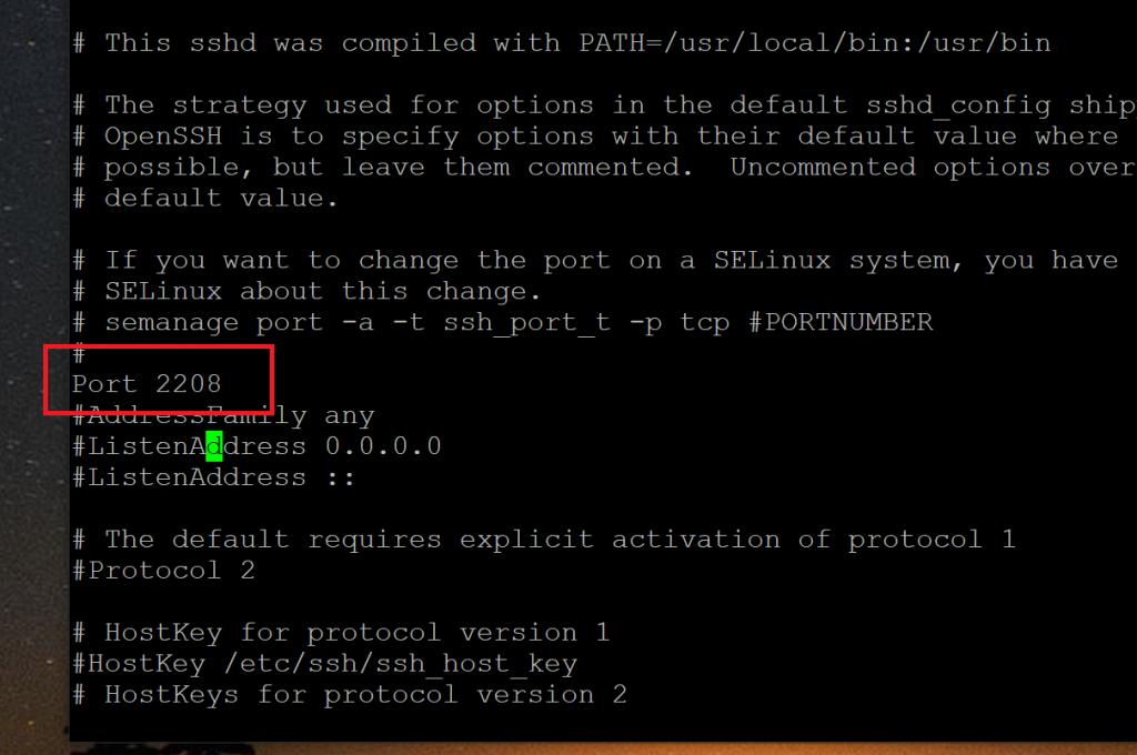 Change the SSH Port