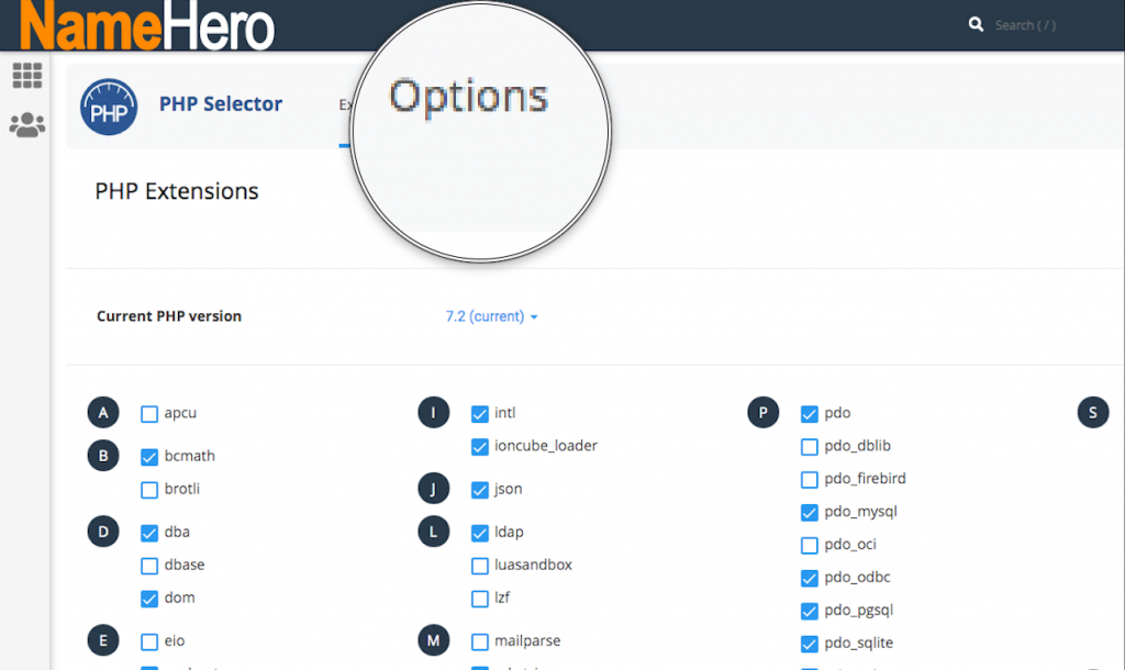 PHP Options
