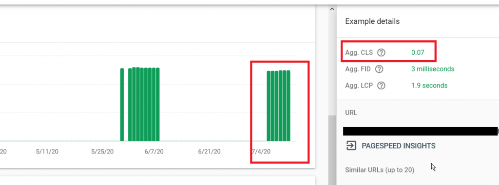 Green Check Marks in the Google Search Console for CLS