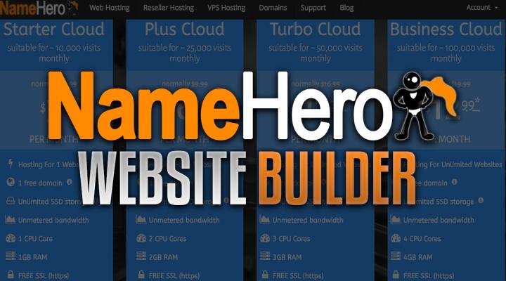 Using the NameHero Website Builder to Kickstart Your Website