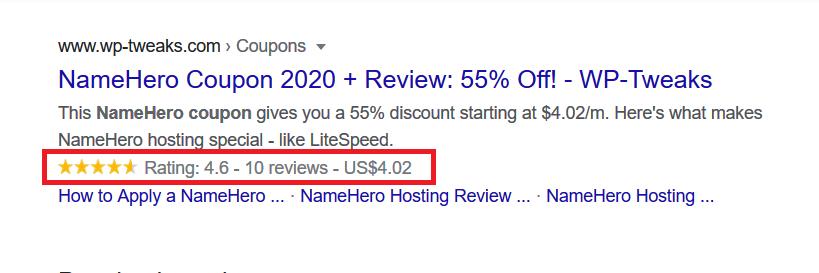 Retings Schema for NameHero on WP-Tweaks.com