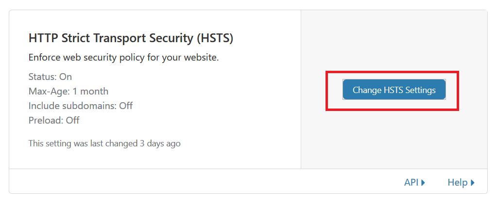 Find the HSTS Option in Cloudflare