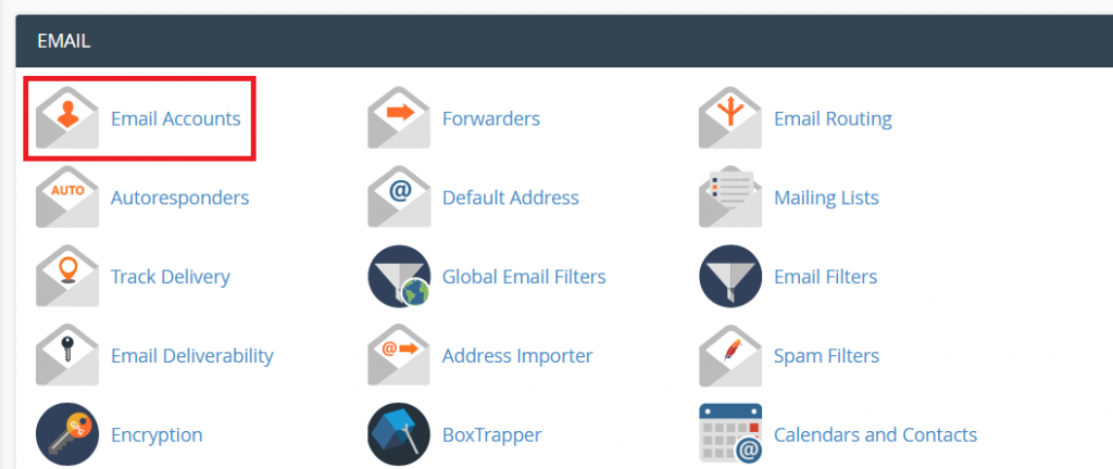 Create Email Accounts in cPanel