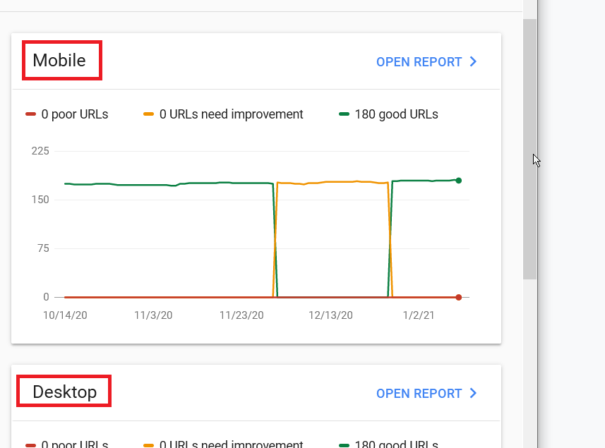 Mobile Load Times on Google Search Console