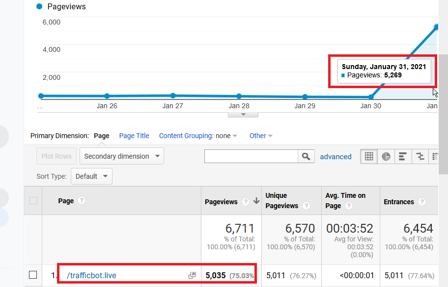 Fake Traffic in Google Analytics