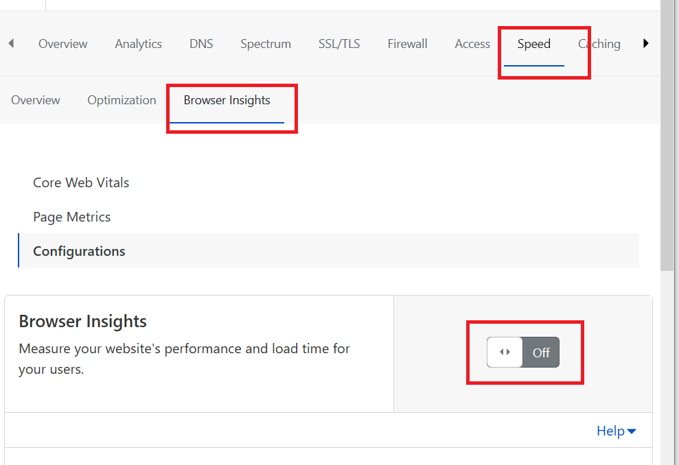 Cloudflare Browser Insights for Measurement