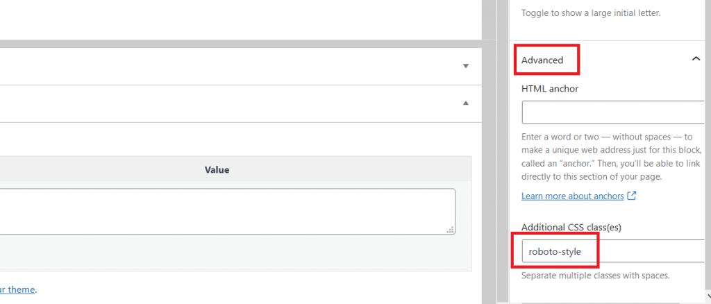 Attribuer une classe à un bloc dans WordPress Gutenberg