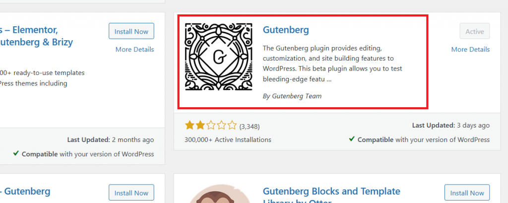 Install the Gutenberg WordPress Plugin