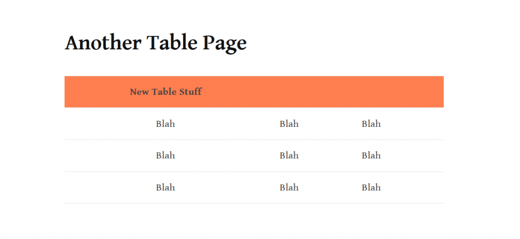 Another Table with the Same Style