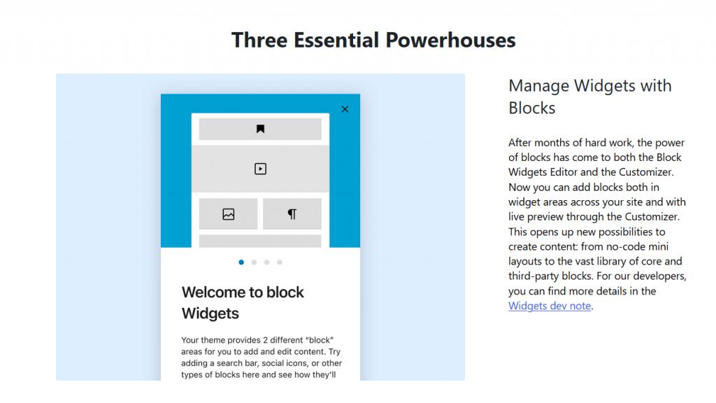 WordPress 5.8 Allows us to Use Blocks in the Widget Area