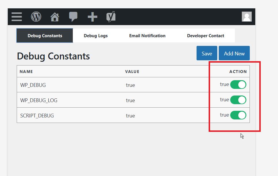 WP Debug Log Plugin Configuration