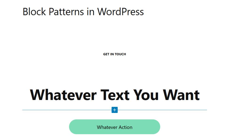 Paste the Block Pattern into WordPress Gutenberg Text Editor