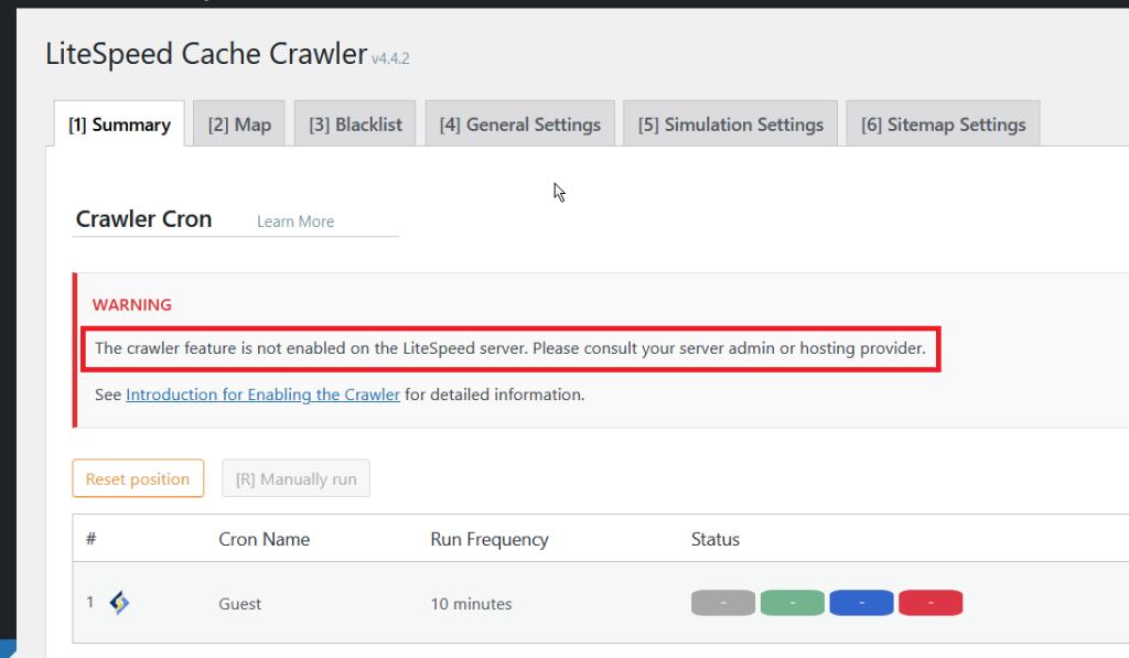 Crawling Options in the LiteSpeed Web Server Plugin with NameHero
